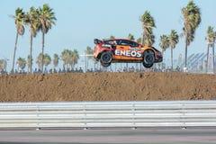 Steve Arpin 00, commandes une voiture de St de Ford Fista, pendant Red Bull Image libre de droits