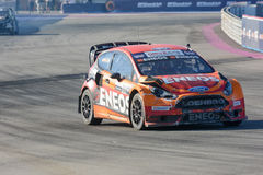 Steve Arpin 00, drives a Ford Fista ST car, during the Red Bull Royalty Free Stock Photography