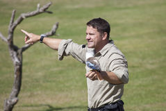 Steve Backshall Wildlife Presenter imagens de stock