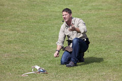 Steve Backshall Wildlife Presenter foto de stock royalty free