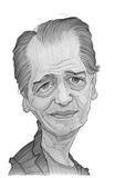 Steve Buscemi Caricature sketch stock images