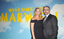 Steve Carell et Nancy Carell photo stock