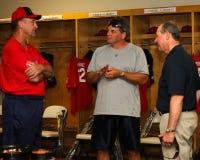 Steve Grogan, Jim Bowman and Mike Tamburro. Stock Images