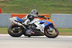 Steve Hallam sur Suzuki Photo libre de droits