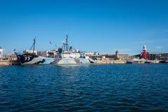 Steve Irwin Docked du berger de mer au port Adelaïde Photographie stock