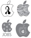 Steve Jobs Apple Logo Design Concepts Stock Image