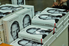 Steve Jobs. Biography in Ukrainian language. KYIV, UKRAINE - DECEMBER 16: Presentation of the Ukrainian translation of the book by Walter Isaacson called Steve Royalty Free Stock Images
