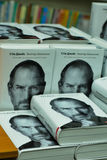 Steve Jobs. Biography in Ukrainian language. KYIV, UKRAINE - DECEMBER 16: Presentation of the Ukrainian translation of the book by Walter Isaacson called Steve Stock Photography