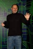Steve Jobs, empresário americano e inventor waxwork Imagem de Stock