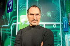 Steve Jobs figure at  Madame Tussauds wax museum in Istanbul. Stock Photo