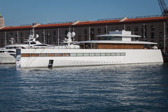 Steve Jobs' luxury yacht Stock Image