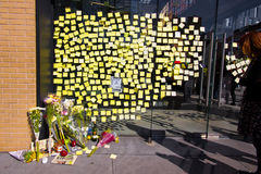 Steve Jobs Memorial NYC Stock Photography