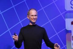 Steve Jobs vaxstaty, vaxdiagram, waxwork arkivbilder