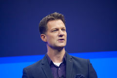 Steve Lucas delivers an address to SAP TechEd 2015 conference Royalty Free Stock Photos
