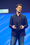 Steve Lucas delivers an address to SAP TechEd 2015 conference Royalty Free Stock Images
