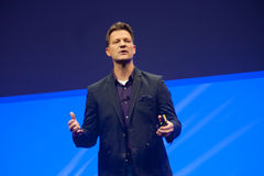 Steve Lucas delivers an address to SAP TechEd 2015 conference Stock Photography