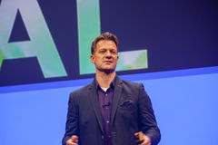 Steve Lucas dostarcza adres SAP TechEd 2015 konferencja obraz royalty free