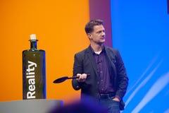 Steve Lucas levererar en adress för ATT UNDERMINERA konferensen den TechEd 2015 royaltyfri bild