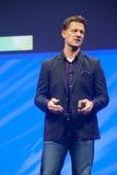 Steve Lucas levererar en adress för ATT UNDERMINERA konferensen den TechEd 2015 royaltyfria bilder