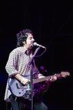Steve Lukather da Toto in tensione Fotografie Stock Libere da Diritti