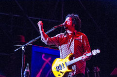 Steve Lukather from Toto live Stock Image