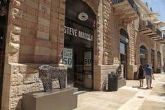 Steve Madden boutique at modern Mamilla shopping mall in Jerusa. JERUSALEM, ISRAEL - AUGUST 26, 2015: Steve Madden boutique at modern Mamilla shopping mall in royalty free stock photos