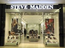 Steve Madden shop. View at Steve Madden shop in Alberta, Canada. It is a footwear company founded at 1990 stock photo