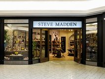 Steve Madden shop. View at Steve Madden shop in Denver. It is a footwear company founded at 1990 stock photo