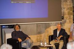 Steve Mccurry e Roberto Cotroneo, otranto Imagem de Stock