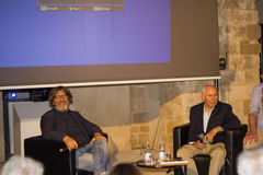 Steve Mccurry et Roberto Cotroneo, otranto Image stock