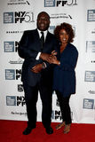 Steve McQueen, Alfre Woodard. NEW YORK- OCT 8: Director Steve McQueen and actress Alfre Woodard attends the 12 Years A Slave premiere at the New York Film Royalty Free Stock Photo