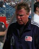 Steve Nichol, treinador principal da revolução de Nova Inglaterra Imagens de Stock Royalty Free