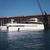 Steve prac luksusowy jacht Fotografia Royalty Free