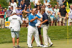 Steve Stricker & Brendon De Jonge at the Memorial Tournament Stock Image