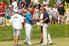 Steve Stricker & Brendon De Jonge at the Memorial Tournament Stock Photo