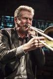 Steve Swell durante il concerto Fotografie Stock