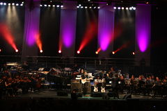 Steve Vai e l'orchestra di tempo di sviluppo Immagine Stock Libera da Diritti