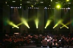 Steve Vai e l'orchestra di tempo di sviluppo Fotografia Stock Libera da Diritti