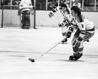 Steve Vickers. New York Rangers forward Steve Vickers, #8. (Image from b&w negative Royalty Free Stock Photo