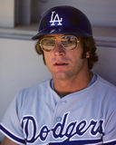 Steve Yeager. Los Angeles Dodgers catcher Steve Yeager.   Image taken from color slide Royalty Free Stock Photos