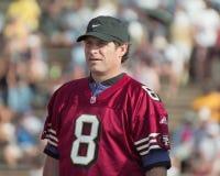 Steve Young bij de 2001 NFL QB Uitdaging Stock Foto's