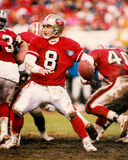 Steve Young San Francisco 49ers. San Francisco 49ers Hall of Fame QB Steve Young (Image from color slide Royalty Free Stock Images