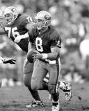 Steve Young. San Francisco 49ers QB Steve Young #8.  Image taken from B&W negative Royalty Free Stock Images