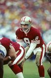 Steve Young. San Francisco 49ers QB Steve Young, #8.  Image taken from color slide Royalty Free Stock Image