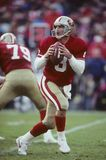 Steve Young. San Francisco 49ers QB Steve Young, #8.  Image taken from color slide Royalty Free Stock Photo