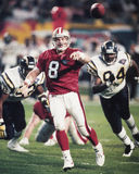 Steve Young. San Francisco 49ers QB Steve Young, #8.   Image taken from color slide Stock Photo