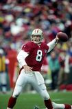 Steve Young of SF 49ers. 49ers Hall of Fame quarterback Steve Young.  Image taken from color slide Royalty Free Stock Photography
