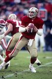 Steve Young of SF 49ers. 49ers Hall of Fame quarterback Steve Young.  Image taken from color slide Stock Photography