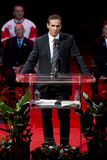 Steve Yzerman fala na noite de Steve Yzerman Fotos de Stock Royalty Free