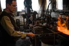 Steven Bronstein Blacksmith forges owl beak Stock Photography